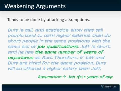GMAT Prep - Verbal - Critical Reasoning - Weakening Arguments by Knewton