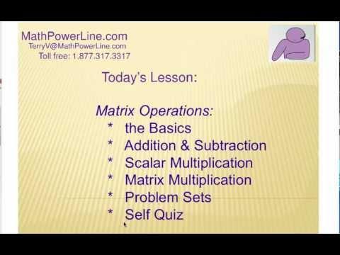 How to Understand Matrix Operations: Self Quiz 2
