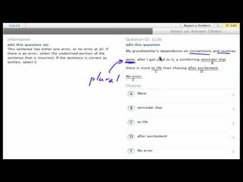 "Grockit SAT Writing ""Work-That-Question"" sample question (3)"