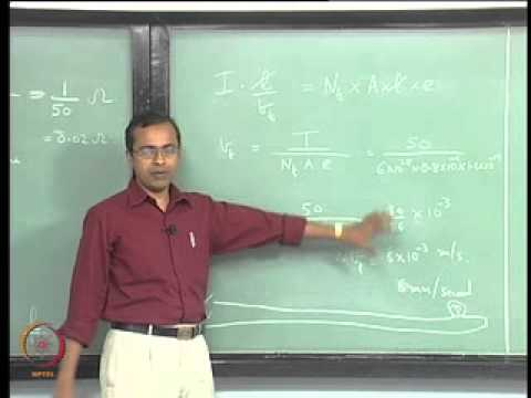 Mod-01 Lec-10 Drude Model: Source of Shortcomings