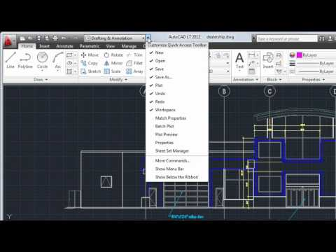 Tour the User Interface — AutoCAD LT 2012