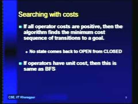 Lecture - 3 Searching with Costs