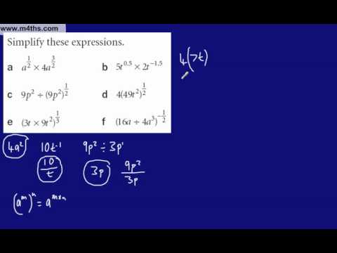 (8) Core 1 Indices (More advanced negative fractional indices 3)
