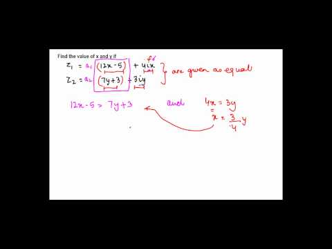 Equailty of Complex Numbers - Problem 1