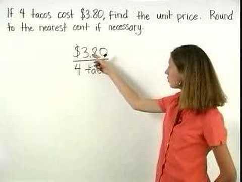 Unit Price - YourTeacher.com - Pre Algebra Help