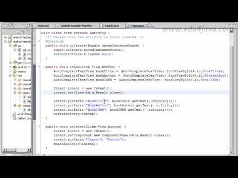 Tutorial 5 Programación Android en Español. Navegando con Intents.