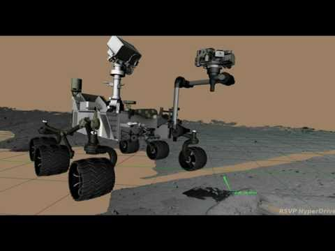 First Rock Contact by Curiosity's Arm