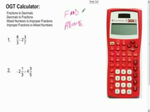 OGT Calculator Tutorial Video 1
