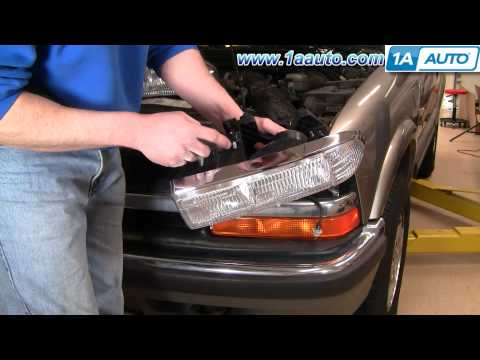 How To Install Replace Headlight Chevy S-10 S10 Blazer 98-05 1AAuto.com