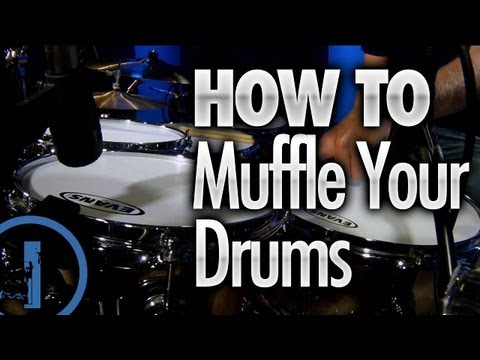 How To Muffle Your Drums - Drum Lessons