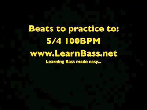Beats to practice to 5/4 100BPM -LearnBass.net