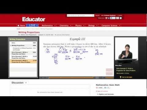 Basic Math: Writing Proportions