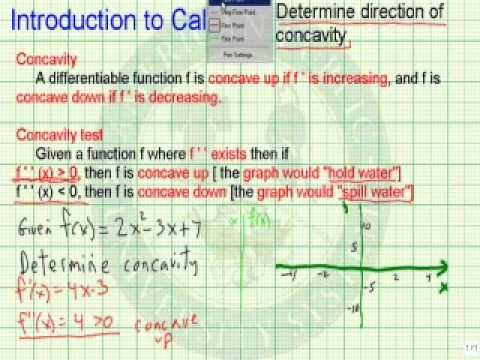 Determine Direction of Concavity