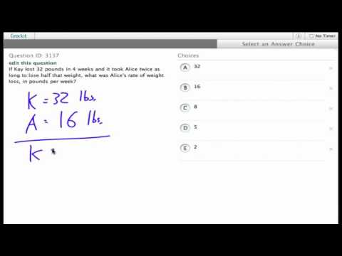 Grockit SAT Math - Multiple Choice: Question 3137
