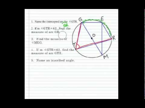 How to Find the Intercepted Arcs and Inscribed Angles of a Circle