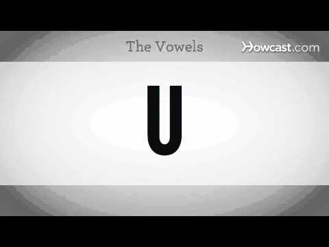 Learn Spanish / The Vowels in Spanish
