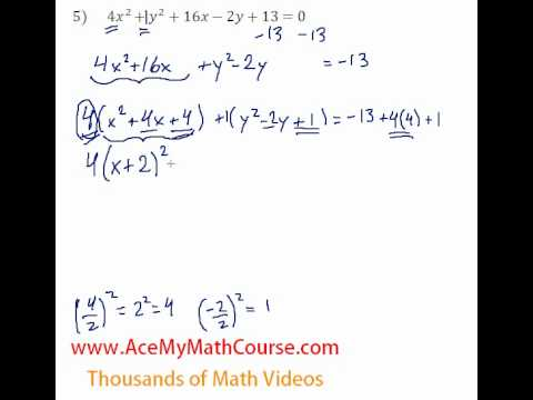 Conics - General to Standard Form #5