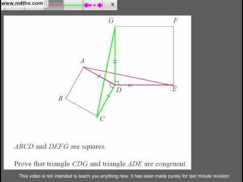 (Q234) A Star GCSE Revision Questions Congruent Triangles