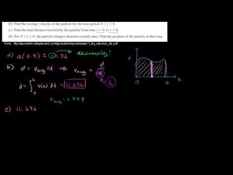 2011 Calculus AB Free Response #1 parts b c d