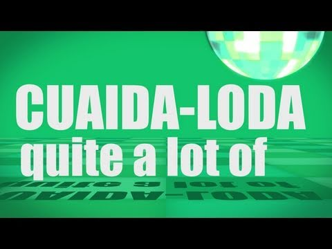 Pronunciation - #18 - quite a lot of (CUAIDA-LODA)