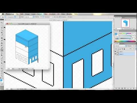 Pixel Art Illustration Tutorial using Photoshop