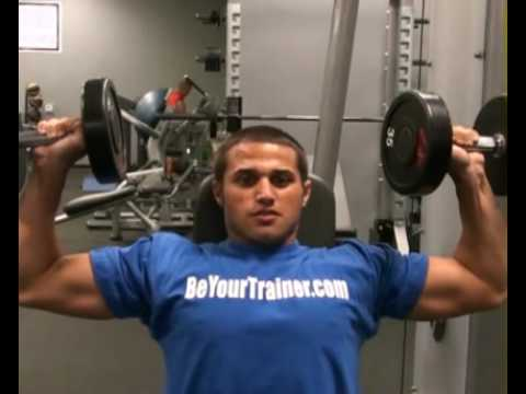 Shoulder Press Seated DB Front : BeYourTrainer.com