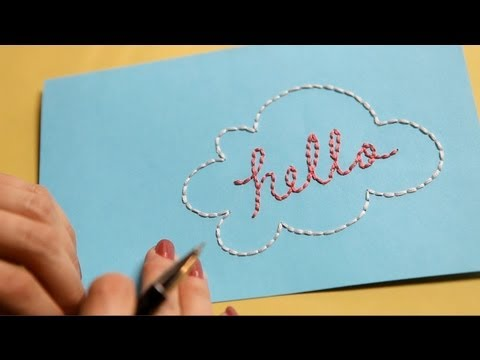 Embroider on Paper: How to || KIN DIY