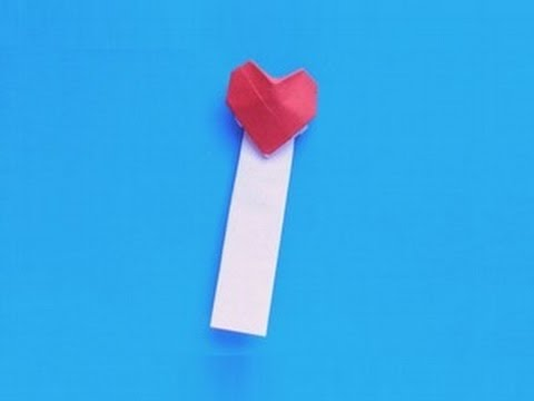 Origami Heart-Shaped Bookmark