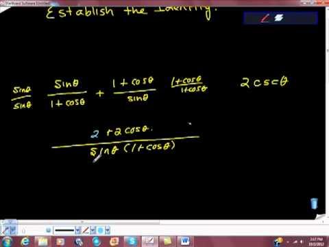 Establishing A Trigonometric Identity Verifying Two