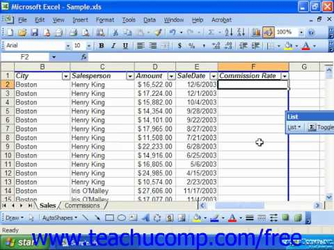 Excel 2003 Tutorial Nesting Logical Funtions Microsoft Training Lesson 30.4