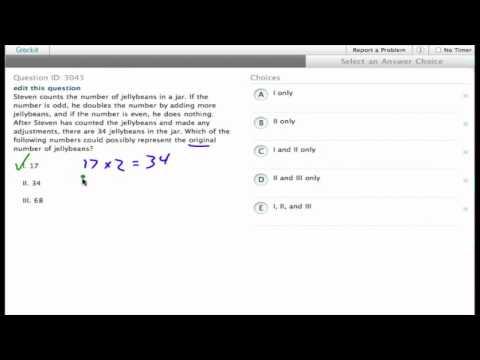 Grockit SAT Math - Multiple Choice: Question 3043