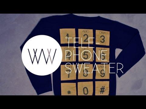 How to Make a Telephone Sweater (2NE1 Fashion: Adidas Jeremy Scott Telephone Sweater)