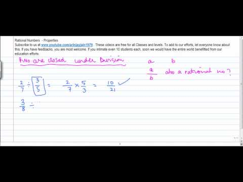 10.d - Mathematics   Class VIII   Properties of Rational No  Closure property under Division