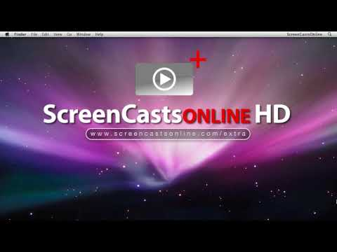 001 - Using the green zoom button - ScreenCastsOnline MiniClip