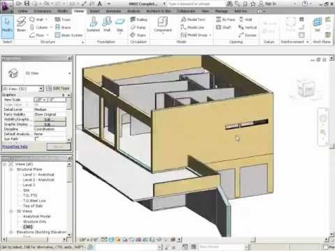 InfiniteSkills Tutorial | Revit Structure 2012 Training - Adding Columns