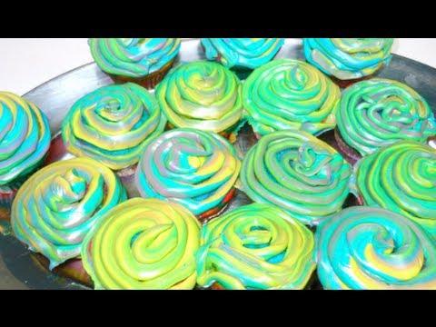 DIY: Neon Swirl Cupcakes