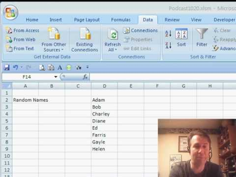 Mr Excel & excelisfun Trick 11: Randomly Select A Name