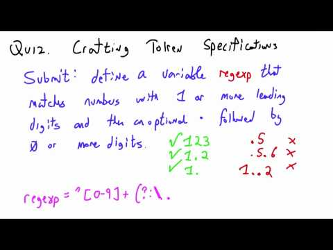 Crafting Token Specifications Solution - CS262 Unit 7 - Udacity