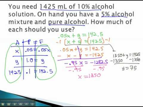 Mixture Problems - Pure Solutions - YouTube.mp4