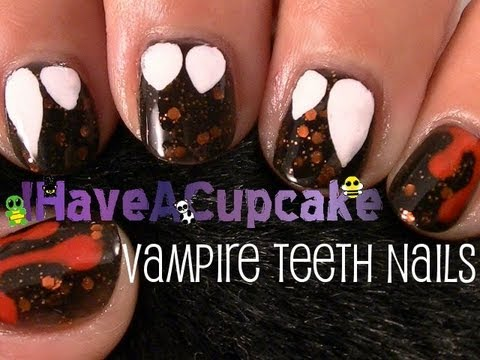 *Vampire Teeth* Halloween Nail Art
