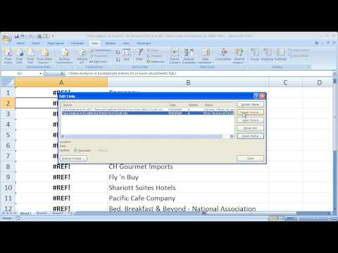 Data Analysis in Excel 6 - Fix Broken Links in Excel and Check Data Connections to Other Files