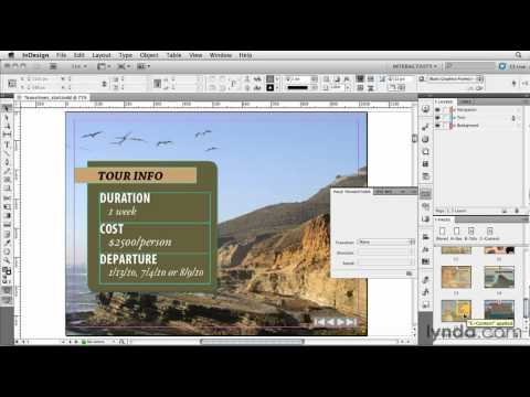 InDesign: Working with page transitions | lynda.com tutorial