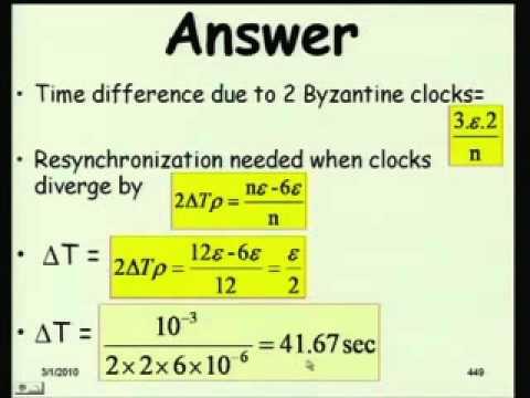Mod-01 Lec-20 Internal Clock Synchronization in Presence of Byzantine Clocks