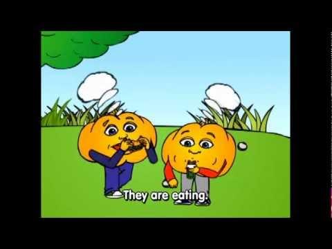 "Lesson 14: Basic English Emotions Grammar Cartoon by Pumkin.com ""Why are you ___?"""