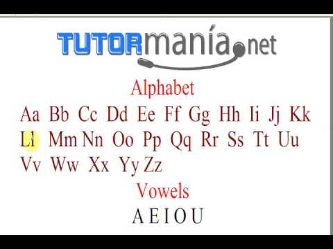 English Alphabet Pronunciation from a US Native Speaker