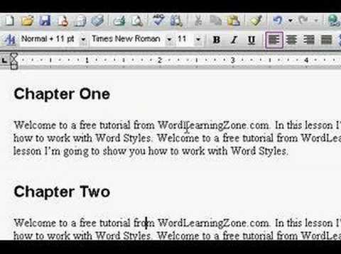 Microsoft Word: Styles