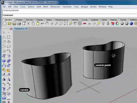 Rhino 5 Tutorial | Working with Freeform Curves | InfiniteSkills Training