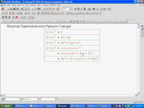 Pascal and Binomial Theorem 1