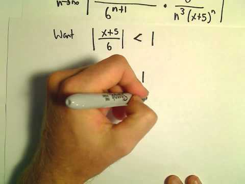 Interval and Radius of Convergence for a Series, Ex 2
