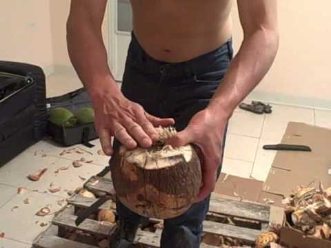 How to Husk a Young Green Coconut